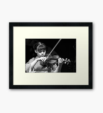 Performing for Japan Relief Framed Print