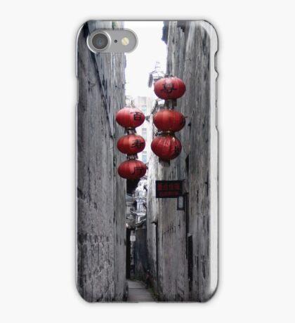 chinese red lanterns in xitang iPhone Case/Skin