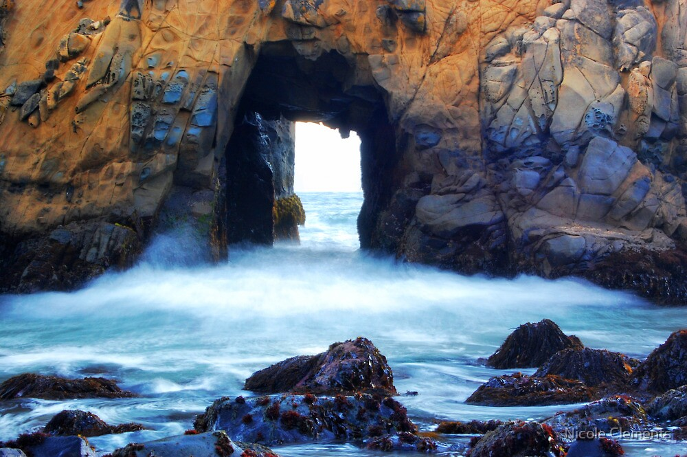 Rock Wall - Julia Pfeiffer Beach by Nicole Clements