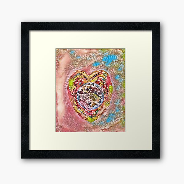Spread the Love around the World #5 Helping People Heal xx Designed & Created by © Janet Watson Art Framed Art Print