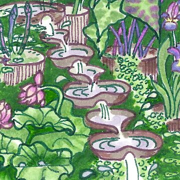 Flowform edible station garden by CeciMacaulay