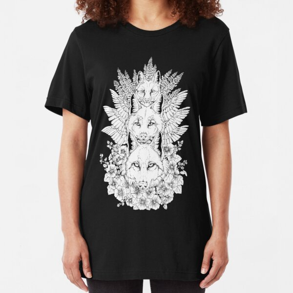 Heraldry Canidae - Black and White Slim Fit T-Shirt