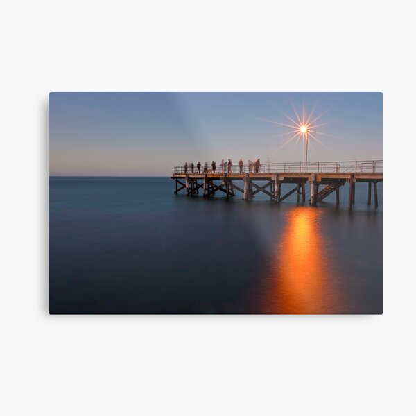 Second Valley Jetty, South Australia Metal Print
