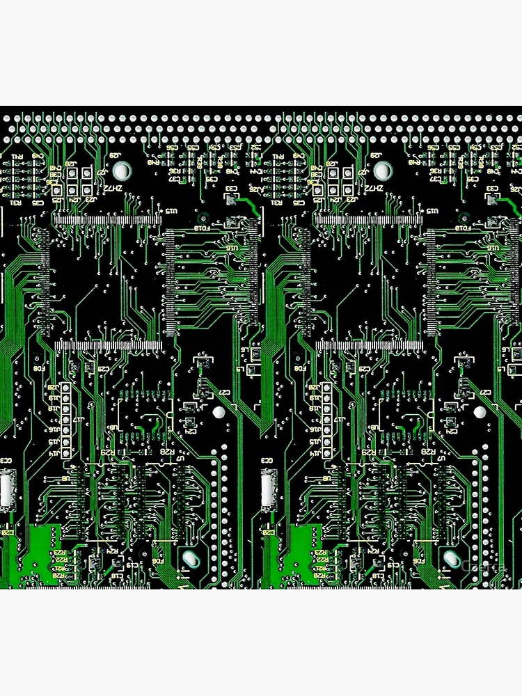 Circuit Board Green by Czerra