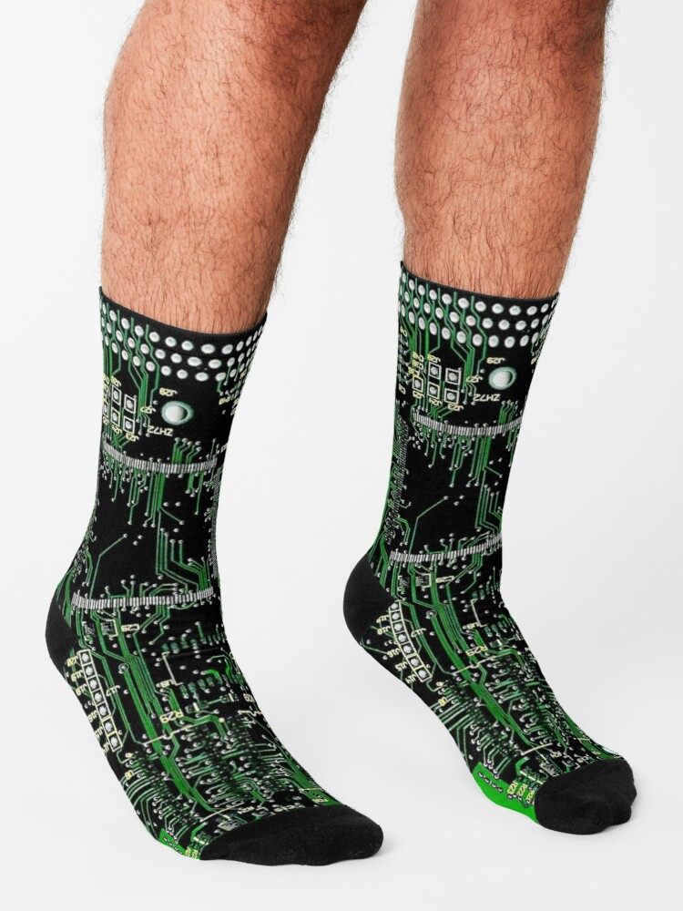 Alternate view of Circuit Board Green Socks