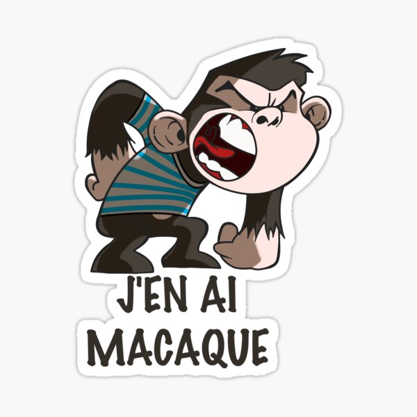 I have a macaque Sticker