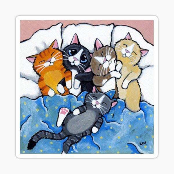 The Sleepover Club - Sleeping Kittens in Bed Sticker