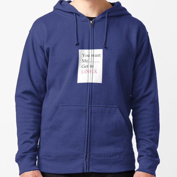 funny text Zipped Hoodie