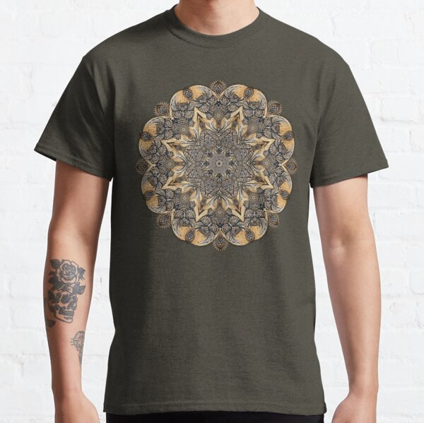 Owl Wood Posca Hand Drawn Mandala Classic T-Shirt