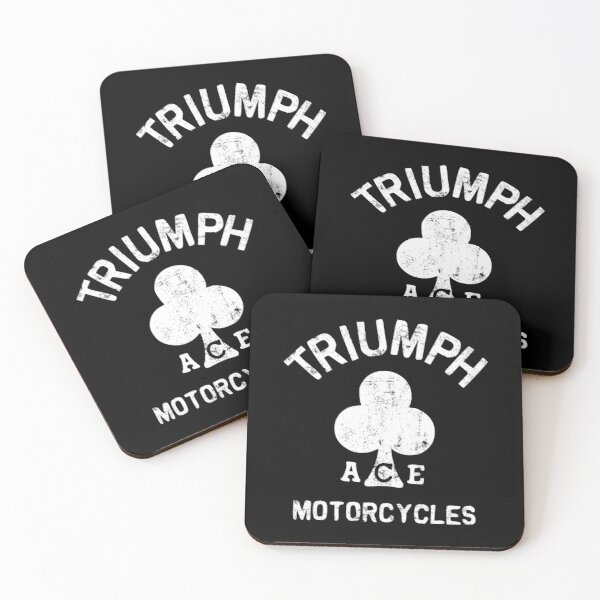 Triumph Logo Retro Classic - ACE Caferacer motorcycle Coasters (Set of 4)