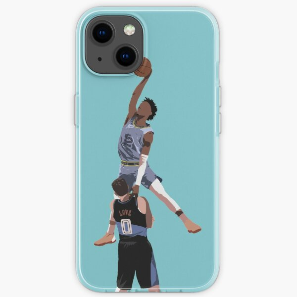 Ja Morant Almost Dunks On Kevin Love iPhone Soft Case