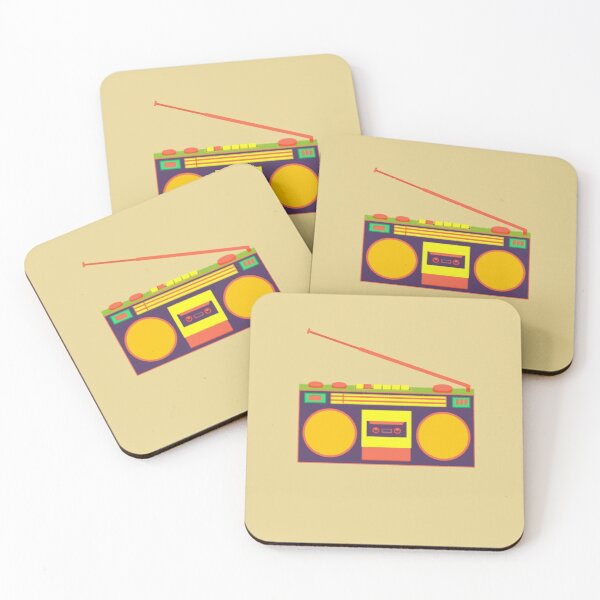 boombox - old cassette - Devices Coasters (Set of 4)