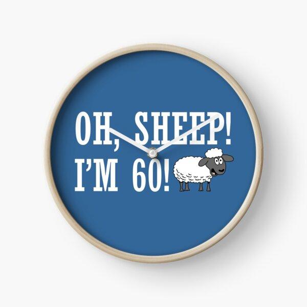 Oh Sheep I'm 60 Cartoon Ewe Clock