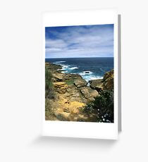 """Where Land Meets Sea"" ∞ Bermagui, NSW - Australia Greeting Card"