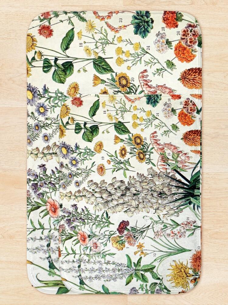 Alternate view of Adolphe Millot - Fleurs B - French vintage poster Bath Mat