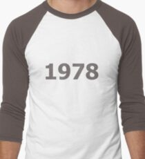 DOB - 1978 Men's Baseball ¾ T-Shirt