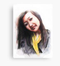 Navina. Bhutanese Woman Canvas Print