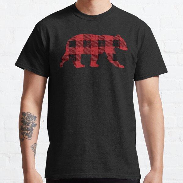 Red Buffalo Check Vintage Bear for Gay Bear Pride Classic T-Shirt