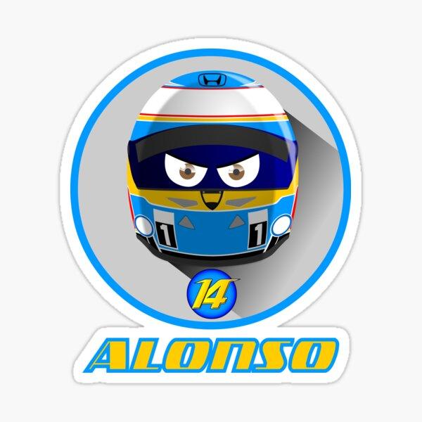 Fernando ALONSO_Helmet 2015 # 14 Sticker