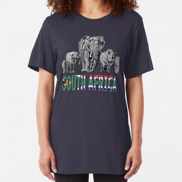 Africa's Big 5 for South Africa Wildlife Fans Slim Fit T-Shirt