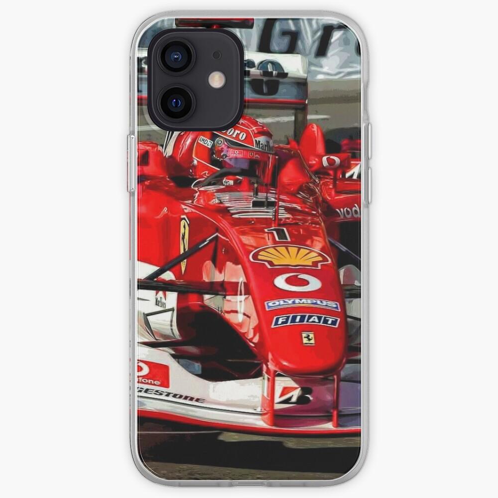 Michael Schumacher dans sa voiture F1 2004 | Coque iPhone
