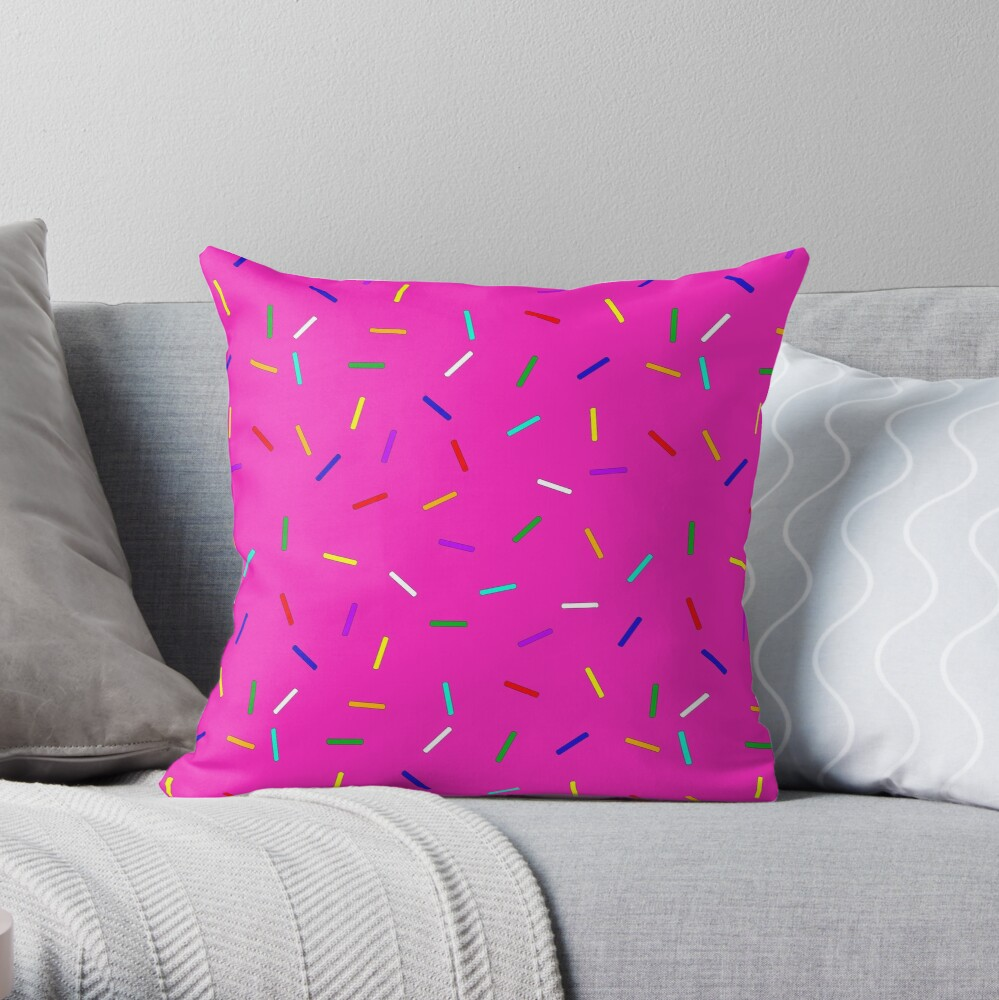 Strawberry Sprinkles Throw Pillow