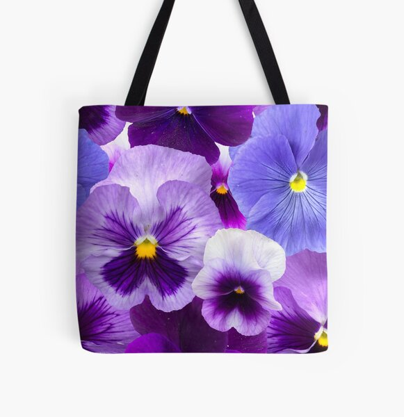 Pansy Beauty by Tea with Xanthe All Over Print Tote Bag