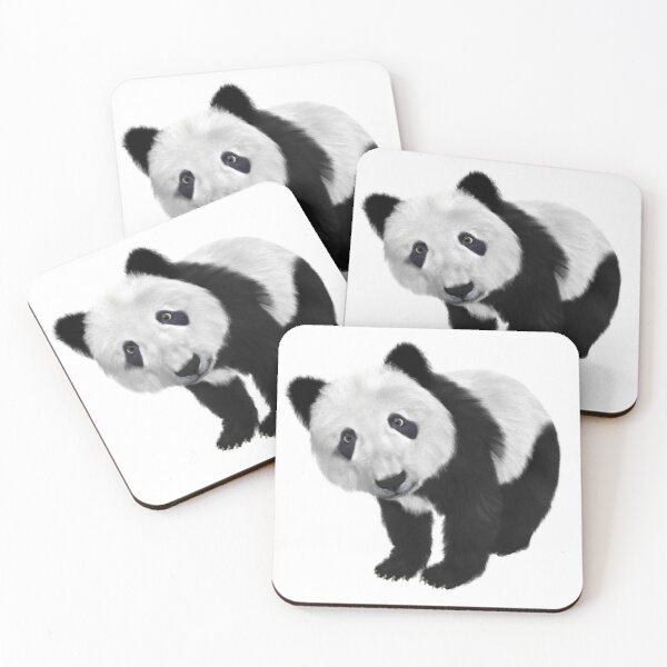 Polar Bear Cub On Mum/'s Back Set of 4 Placemats and Coasters
