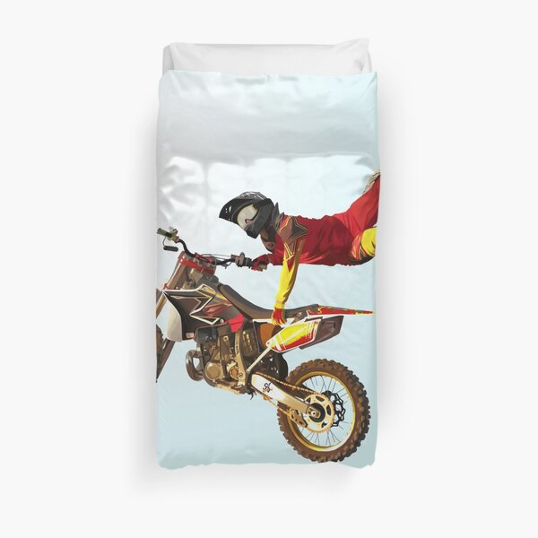 My Bike Brings Me In The Sky: I Can Fly! Duvet Cover