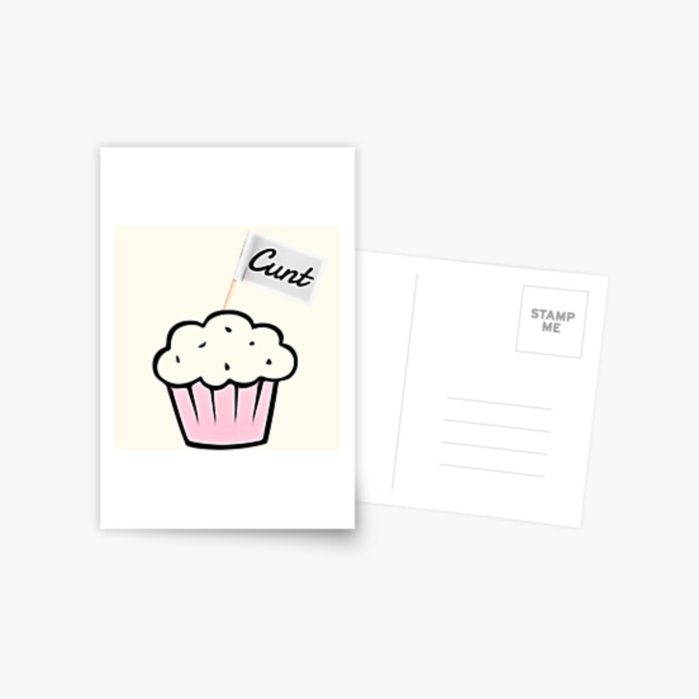 C*nt Muffin Postcard