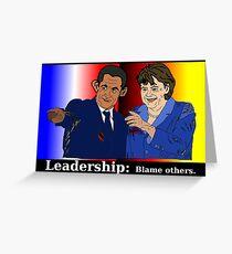 Sarkozy et Merkel - doigts pointés Greeting Card