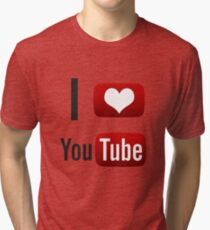 I Heart Youtube! Tri-blend T-Shirt