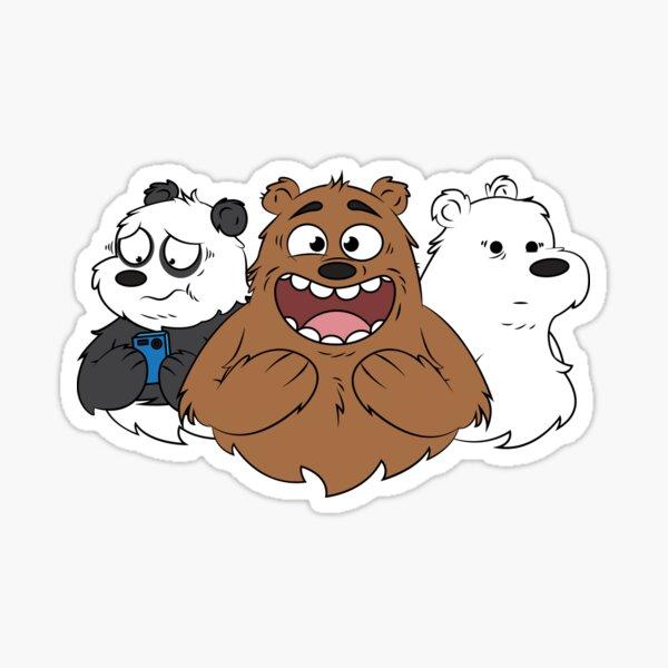 We Bare Bears gay pride polar bear cartoon Sticker decal car laptop cute