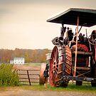 Amish Steam Tractor by Marcia Rubin