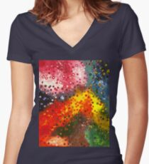 A Field of Energy 3 Women's Fitted V-Neck T-Shirt