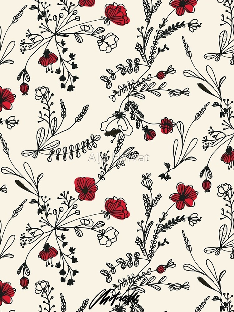 Red Flower Pattern by chotnelle
