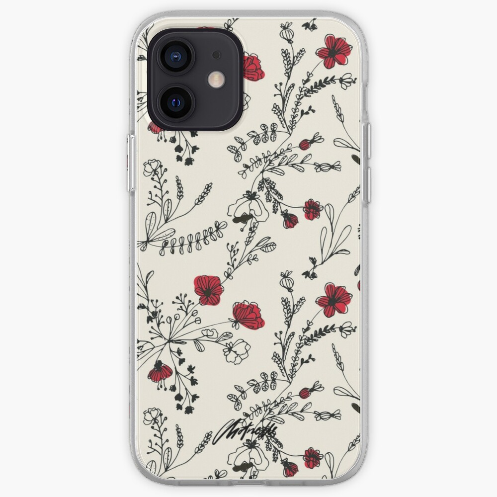 Red Flower Pattern iPhone Case & Cover