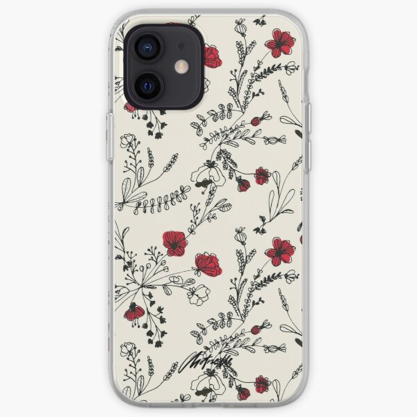 Red Flower Pattern iPhone Soft Case