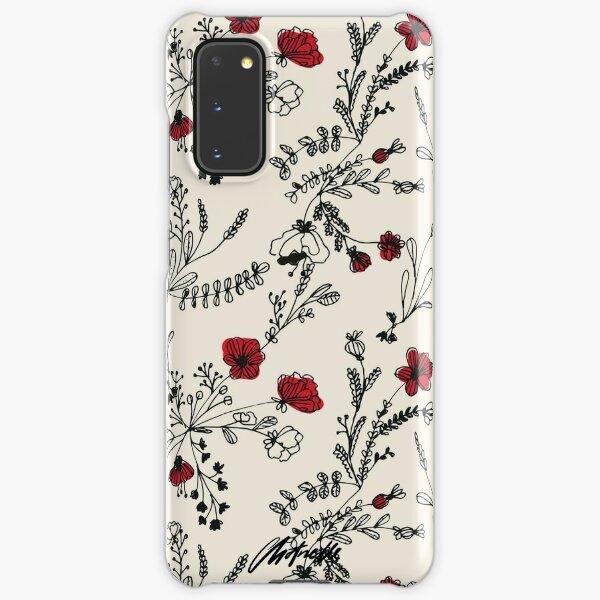 Red Flower Pattern Samsung Galaxy Snap Case