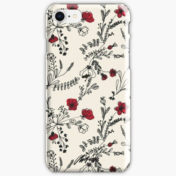 Red Flower Pattern iPhone Snap Case