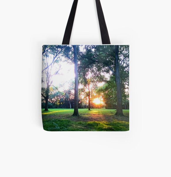 Sunset in the bush All Over Print Tote Bag