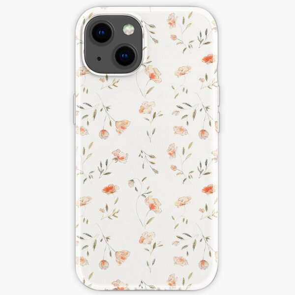 Watercolor Floral Pattern iPhone Soft Case