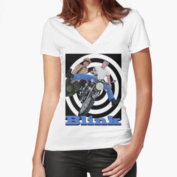 BLINK  Fitted V-Neck T-Shirt