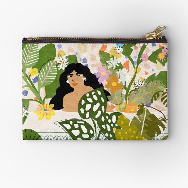 Bathing with Plants Zipper Pouch