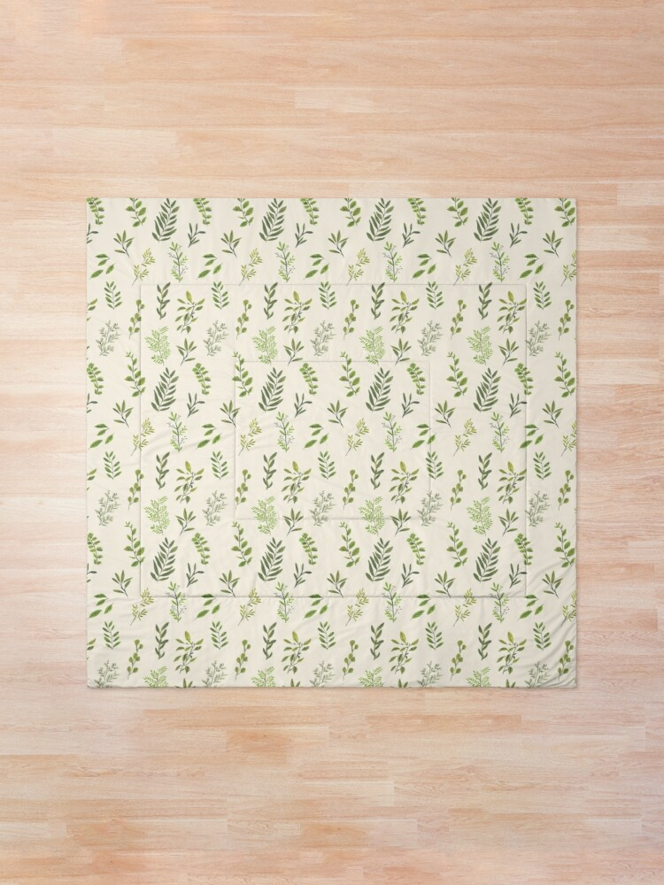 Alternate view of Leaf Pattern Comforter