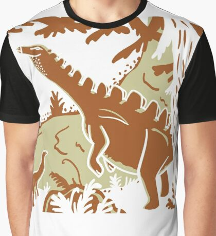 Long Necks - Tan and Orange Graphic T-Shirt