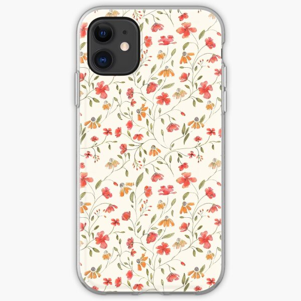 Vintage floral print iPhone Soft Case