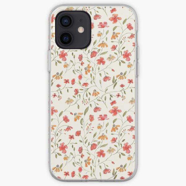 Imprimé floral vintage Coque souple iPhone