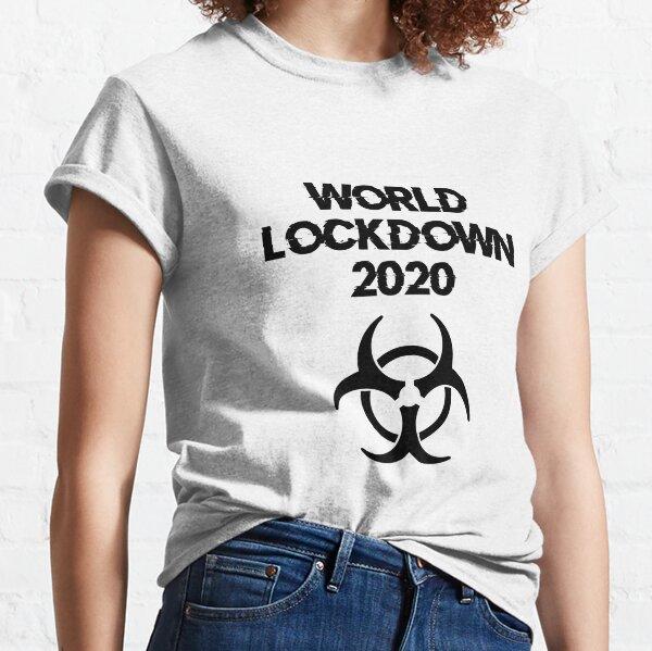 World Lockdown 2020 Pandemic Symbol (Black) Classic T-Shirt
