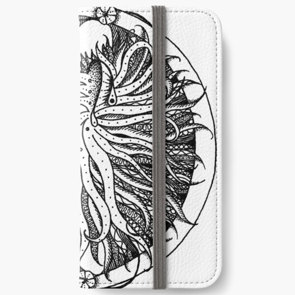 Lion drawing iPhone Wallet